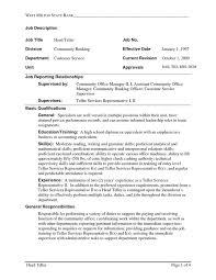 Bank Teller Resume Sample Writing Tips Resume Companion Sample