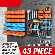 43 Rushed Caja De Herramientas Toolbox New Wallmounted Storage Bin Rack  Tool Parts Garage Unit Shelving Organiser Box Ad1004