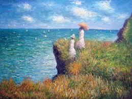 claude monet most famous paintings cliff walk at pourville by claude monet oil painting