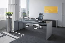 minimalist office furniture. Furniture Trendy Gray Minimalist Desk With Leather Office