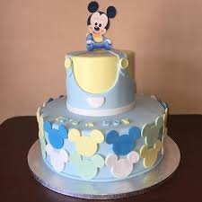 Baby Shower Mickey Cake  A Photo On FlickriverBaby Mickey Baby Shower Cakes