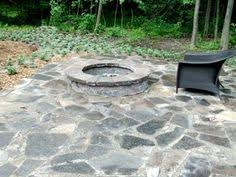 Simple Flagstone Patio With Fire Pit Pictures And Firepit Modern Ideas