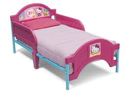 hello kitty bed furniture. delta children hello kitty pink plastic toddler bed right side view a1a furniture