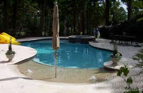 beach entry swimming pool designs. Exellent Beach Beach Entry Swimming Pool With Umbrella Anchor Spa And Sunshelf In  Raleigh North Carolina And Entry Swimming Pool Designs