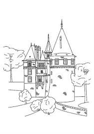 Facade of a small castle. Kids N Fun Com 20 Coloring Pages Of Castles