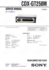 sony cdx gt250m manuals