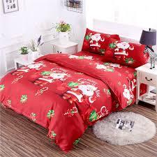 3d cartoon bedding sets merry gift bedclothes duvet quilt cover bed sheet 2