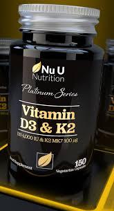Vitamina D3 4000IU E Vitamina K2 100μg MK7,D3 E K2 Compresse Vegetariane
