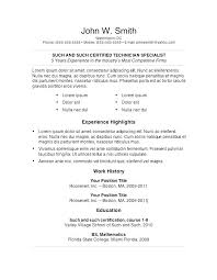 Resume Word Document In Simple Word Sample Professional Resume Word ...