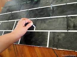 Painting Tiles In The Kitchen Painted Backsplash Slate Subway Tiles