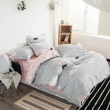cute pretty cloud rain cartoon bedding set kids s duvet covers bed sheet linen pillow cover hometextile grey comforter sets queen blue bedding sets