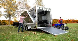 toy hauler is an rv that provides room and storage for your big toys it helps to protect eh equipment from weather accidental scratches and of course