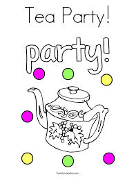 Small Picture Tea Party Coloring Page Twisty Noodle
