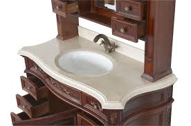 bathroom vanity single sink. Click To See Larger Image. Loading Zoom · Constance II Antique Style Bathroom Vanity Single Sink 49.1