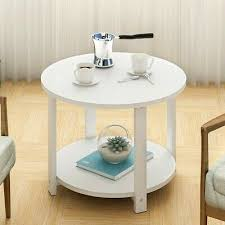 round accent table sofa bed chair side nightstand end stand w shelf drawer tall