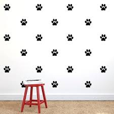 print wall decals with paw print repeatable pattern vinyl wall decals dog paw print leopard print wall border decals rag