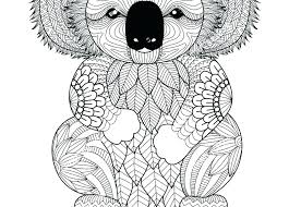 Free Koala Bear Coloring Pages Best Of Page Animals Awesome Adult