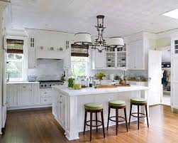 Minimalist Light Kitchen Country Island Design White Glossy Wooden White French  Country Kitchen Cabinets Also Drawers Storage Below Classic Morrocan Lamps  ...