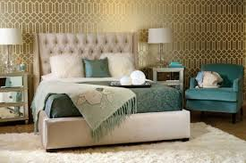 View in gallery Chic bedroom with a daft tufted headboard for the plush look
