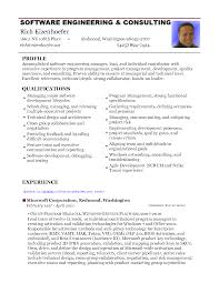 Resume For Software Developer Experienced Resume For Study