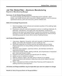 Welder Helper Job Description Welder Job Description 10 Free Word Pdf Documents