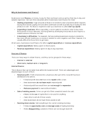 finance essays why do businesses need finance docsity