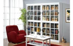 white bookcase with glass door bookcase with sliding glass doors white bookcase with glass doors bookcase