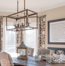 diy kitchen lighting fixtures. Rustic Farmhouse Breakfast Area Reveal 2017 With Kitchen Lighting Fixtures Images Diy