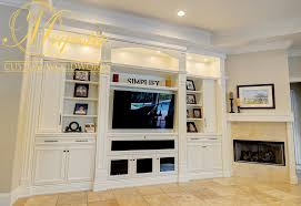 White Living Room Entertainment Center Majestic Custom Woodworks