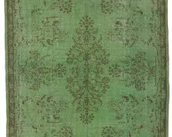 Green overdyed rug Green Wool Green Overdyed Rug 510 Etsy Green Overdyed Rug Etsy