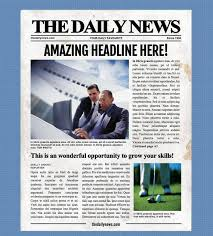 11x17 Newspaper Template 4 Page Newspaper Template Microsoft Word 8 5x11 Inch Etsy