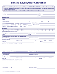 Free Downloadable Employment Application Forms Generic Employment Application Montana Free Download
