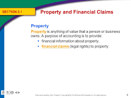 5 property financial claims