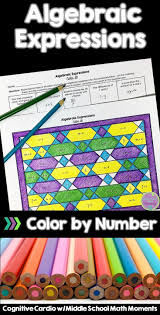 algebraic expressions color by number