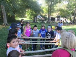 new garden fifth grade students work together to accomplish tasks