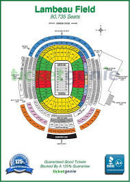 Detailed Seating Chart For Lambeau Field Lambeau Field Seating Guaranteed Good Tickets At Www