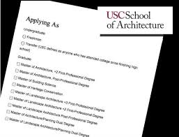 undergraduate admission usc school of architecture contact admissions