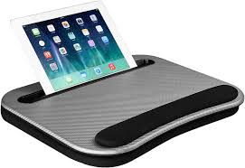 Lapgear Smart E Lap Desk Silver Carbon Fits Up To 15 6 Inch Laptops And Most Tablet Devices Style No 91335