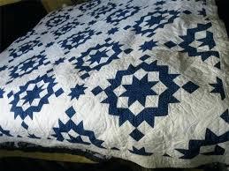 1900s 30s Broken Star Feedsack Fabric Blue White Quilt Carla ... & 1900s 30s Broken Star Feedsack Fabric Blue White Quilt Carla Faulkner The  White And Blue Quilt Adamdwight.com