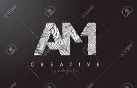 ゼブラ線テクスチャ デザイン ベクトル イラスト M 文字ロゴをよ