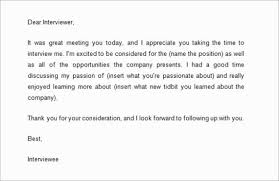 Writing Follow Up Email After Interview Reply Letter For