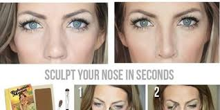 how to make the nose look smaller with makeup