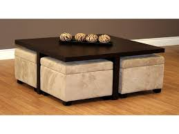 furniture round coffee table with storage ottomans marvelous coffee storage ottoman table elegant for round with