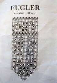 Bird Chart For Norwegian Mittens Knitted Mittens Pattern