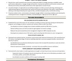 Resume Hr Generalist Sample Remarkable Human Resources Examples