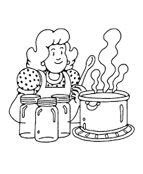 Small Picture Mom Cooking On The Kitchen Coloring Pages For Kids Coloring Home