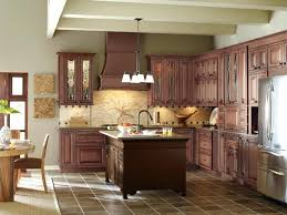 medium wood kitchen cabinets with contrasting dark island traditional cabinet white