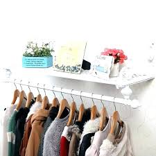 wall mounted clothes rod clothes rod wall mounted wardrobe racks extraordinary bar for hanging review white wall mounted clothes rod