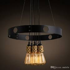 edison bulb chandelier iron circle creative chandelier retro restaurant cafe chandelier blown glass pendant lights outdoor pendant light from smilelu