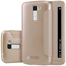 lg k10 gold case. lg k10 case , opdenk (tm) nillkin sparkle window view sleep wake up smart pu leather flip cover for (champagne golden) lg gold c